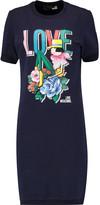 Love Moschino Printed cotton-blend jersey mini dress