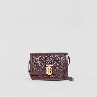 Burberry Mini Quilted Monogram Lambskin TB Bag