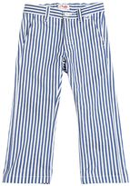 Il Gufo Striped Cotton Drill Pants