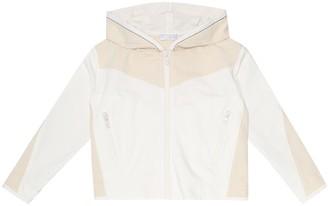BRUNELLO CUCINELLI KIDS Embellished stretch-cotton hoodie