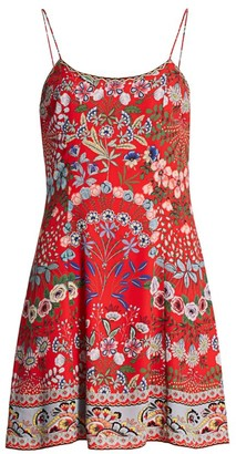 Alice + Olivia Ira Floral A-Line Dress