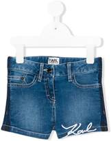 Karl Lagerfeld embroidered denim shorts