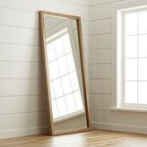 Crate & Barrel Linea II Natural Floor Mirror