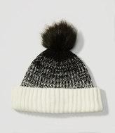 LOFT Ombre Faux Fur Pom Pom Hat