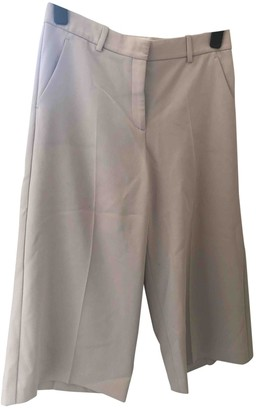 Theory Beige Polyester Trousers