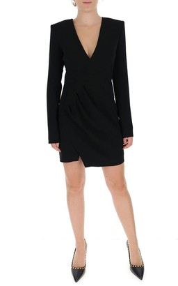 DSQUARED2 V Neck Gathered Fitted Dress