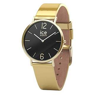 Ice Watch Ice-Watch - CITY sparkling - Metal Gold - Women's wristwatch with leather strap - 015090 (Small)