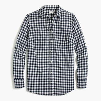 J.Crew Petite gingham button-up shirt in signature fit