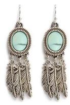 Philippe Audibert 'Athalia' marbled stone feather drop earrings