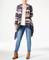 American Rag Trendy Plus Size Cascade Cardigan, Only at Macy's