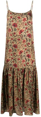 UMA WANG Floral Print Flared Dress