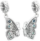 Swarovski Chamilia Crystal True Blue Friendship Best Friends Butterfly Bead Charm