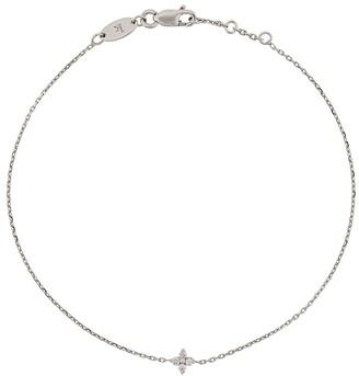 Redline 18kt White Gold And Diamond Chain Bracelet