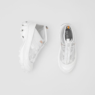 Burberry Nylon and Suede Arthur Sneakers
