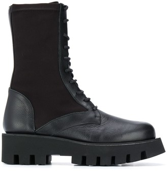 Paloma Barceló Chunky Sole Lace Up Boots
