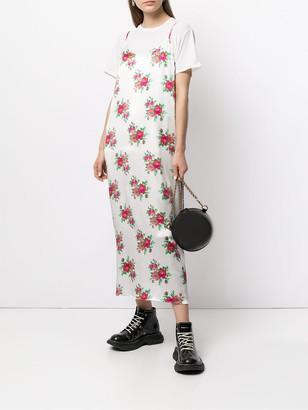 R 13 Floral-Print Silk Slip Dress