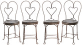 Rejuvenation Set of 4 Wire Work 'Sweetheart' Cafe Chairs