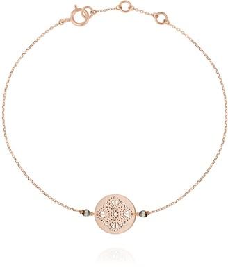 Perle de Lune Art Deco Bracelet Rose Gold