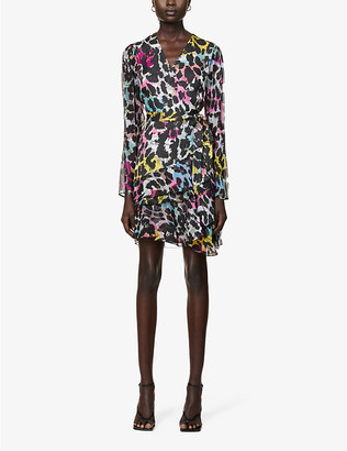Diane von Furstenberg Keyla abstract-print crepe mini wrap dress