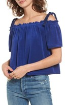 Juicy Couture Women's Venice Beach Microterry Off The Shoulder Top