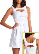 Pleated A-Line Cutout Dress