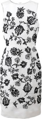 Oscar de la Renta Embellished Pencil Dress