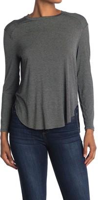 Halogen Long Sleeve Shirttail Hem Shirt (Regular & Petite)