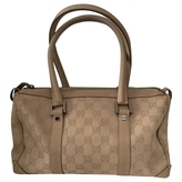 Gucci 100% Authentic GG Logo Canvas Leather Bag