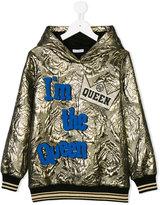 Dolce & Gabbana floral embossed queen hoodie