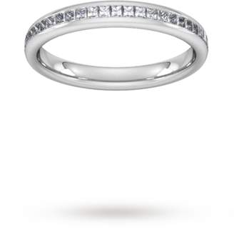 Goldsmiths 0.34 Carat Total Weight Princess Cut Channel Set Wedding Ring In Platinum