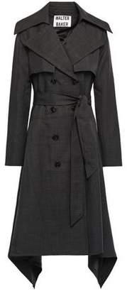 Walter Baker Dorethea Asymmetric Woven Trench Coat