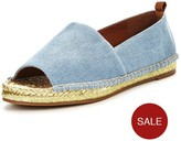 Kurt Geiger Becca Peep Toe Flat Sandal