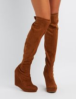 Charlotte Russe Over-The-Knee Wedge Boots