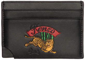 Kenzo Black Jumping Tiger Card Holder