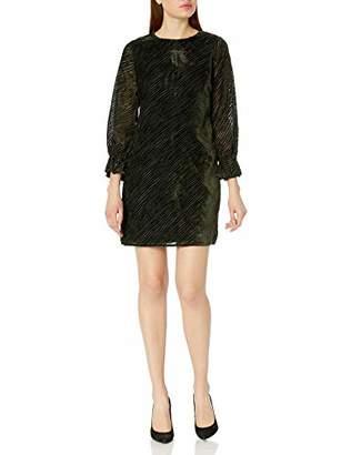 Sam Edelman Women's Long Sleeve Velvet Shift Dress