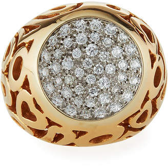 Roberto Coin 18k Rose Gold Diamond Cutout Ring, Size 6.5