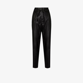 Isabel Marant High-Waisted Tie-Waist Trousers