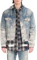 Off-White Painted-Splatter Oversized Denim Jacket