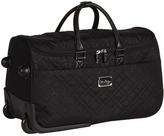 Vera Bradley Luggage - 22 Roll Along Duffel (Black 2) - Bags and Luggage