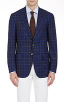 Isaia Men's Plaid Two-Button Sportcoat-NAVY