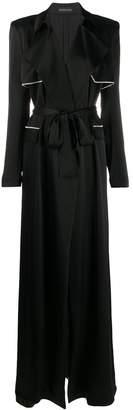 David Koma chain detail belted coat