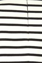Maison Martin Margiela Exaggerated shoulder striped cotton top