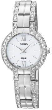 Seiko Women's Solar Stainless Steel Crystal Bracelet Watch