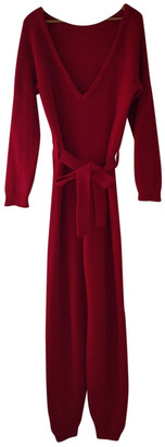 Base Range Red Cotton Jumpsuits