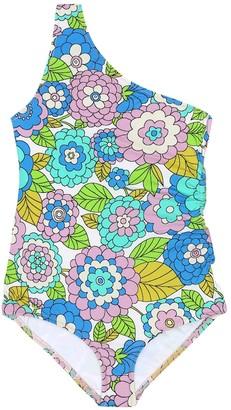Dodo Bar Or Kids Floral one-shoulder swimsuit