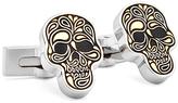 Robert Graham Silvertone Skull Cuff Links