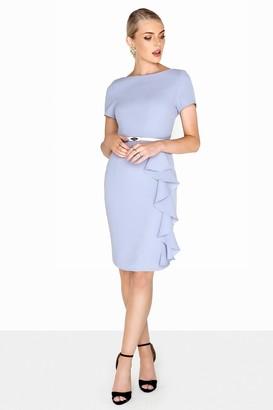 Paper Dolls Blue Ruffle Dress
