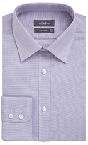 John Lewis Pin Dot Cotton Tailored Shirt, Lilac