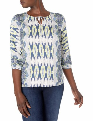 Tribal Women's 3/4 Sleeve Printed Blouse