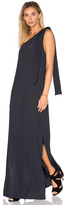 Lenny Niemeyer Drape One Shoulder Maxi Dress